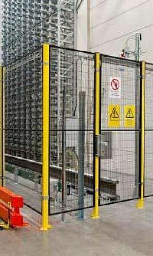 Cerca de proteção de equipamentos industriais