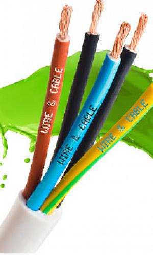 Tinta de fios e cabos